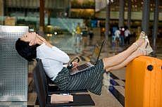 stuck in airport
